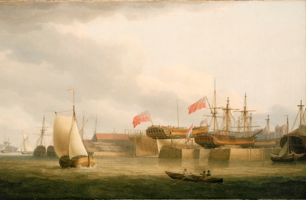 Shipbuilding on the Thames at Redriff