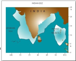 India EEZ boundaries