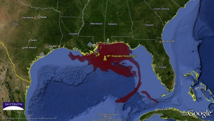 Pic 4 - BP oil spill satellite image
